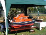 Ron Paddison,s well known and superbly detailed large model of the Whitby Trent Class lifeboat George and Mary Webb